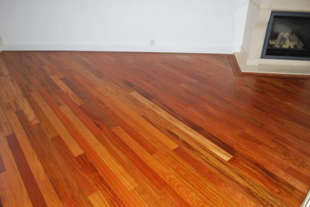 Jatoba tapis gelegd, geschuurd en afgewerkt met naturel olie (4)